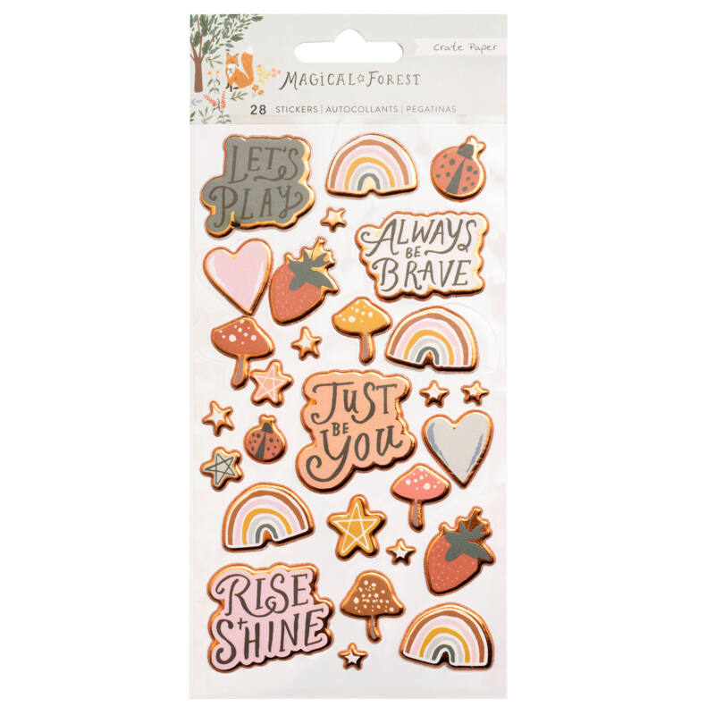 Crate Paper - Magical Forest Puffy Sticker (28 Piece)