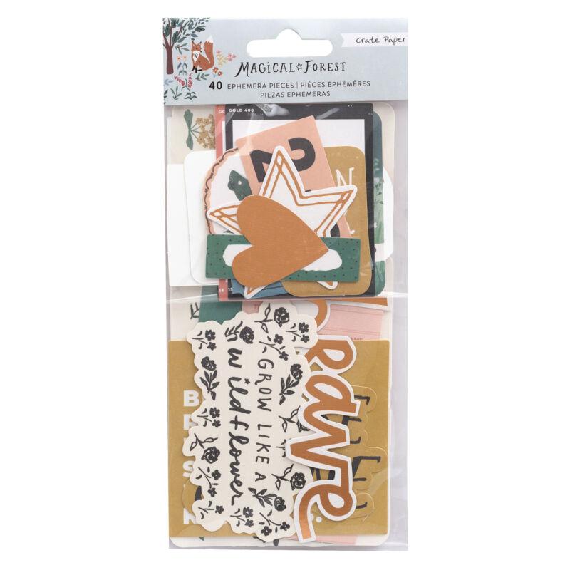 Crate Paper - Magical Forest Ephemera  (40 Piece)