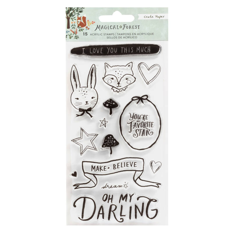 Crate Paper - Magical Forest Stamp Set (15 Piece)