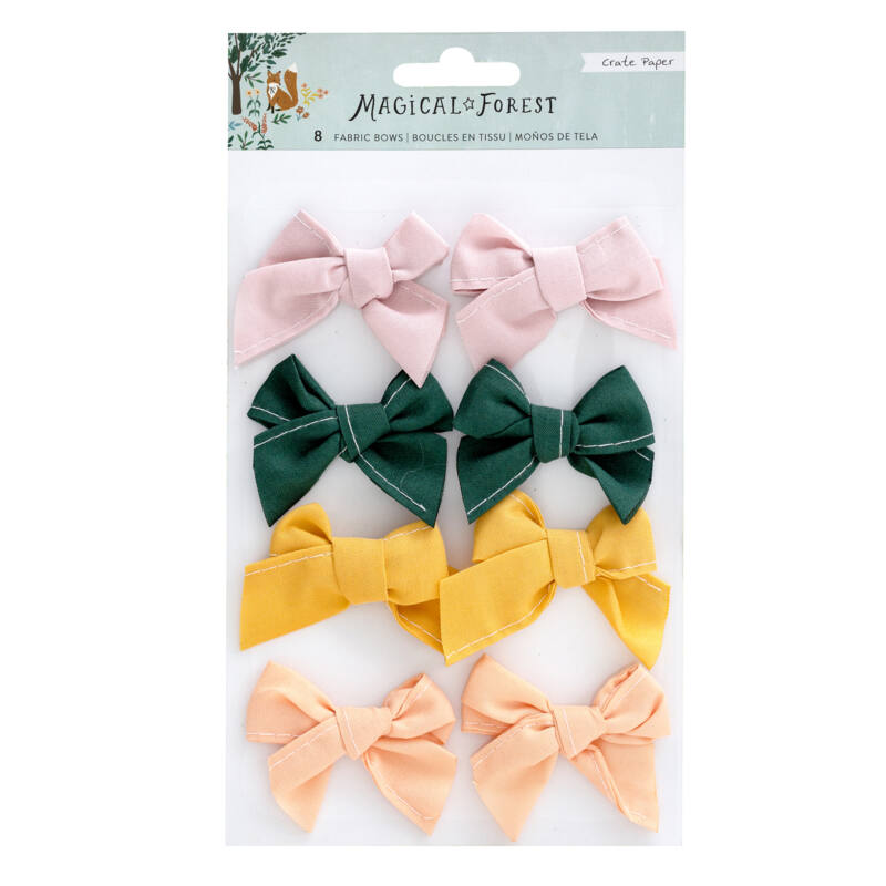 Crate Paper - Magical Forest Fabric Bows (8 Piece)