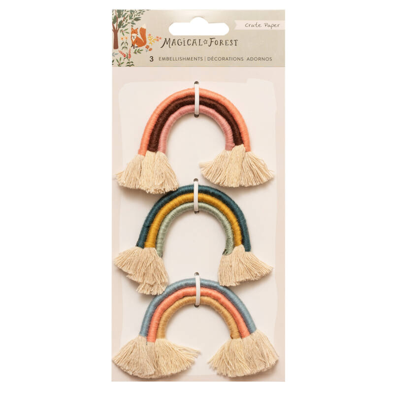 Crate Paper - Magical Forest Yarn Rainbows (3 Piece)