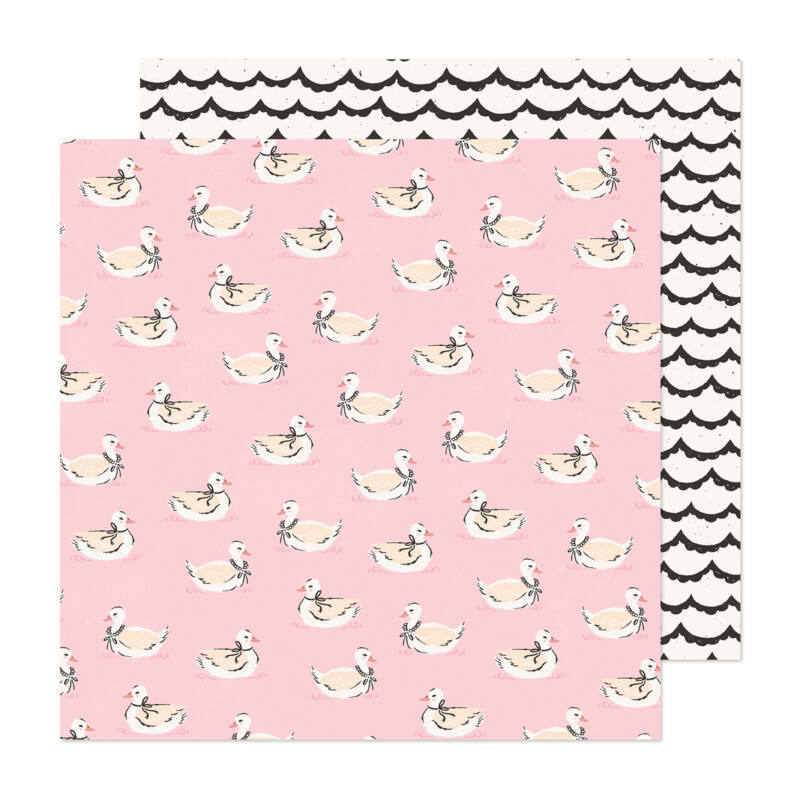 Crate Paper - Maggie Holmes - Marigold 12x12 Patterned Paper -  Darling