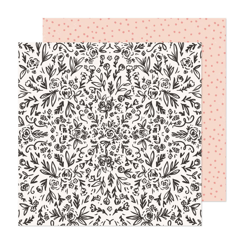 Crate Paper - Maggie Holmes - Marigold 12x12 Patterned Paper -  Freshly Picked