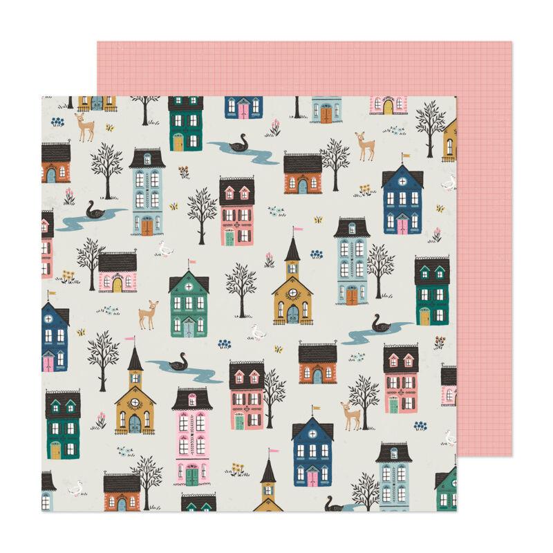 Crate Paper - Maggie Holmes - Marigold 12x12 scrapbook papír -  Homecoming