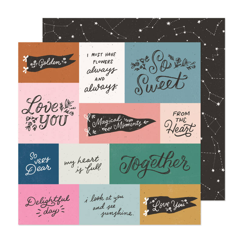 Crate Paper - Maggie Holmes - Marigold 12x12 Patterned Paper -  Magical Moments