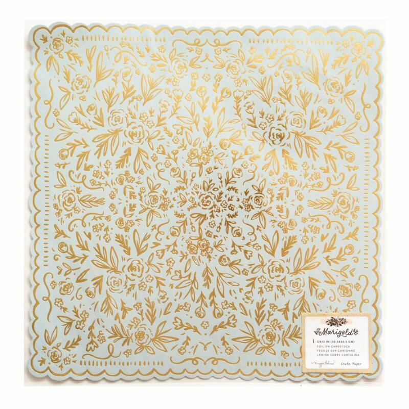 Crate Paper - Maggie Holmes - Marigold 12x12 Specialty Paper - So Sweet