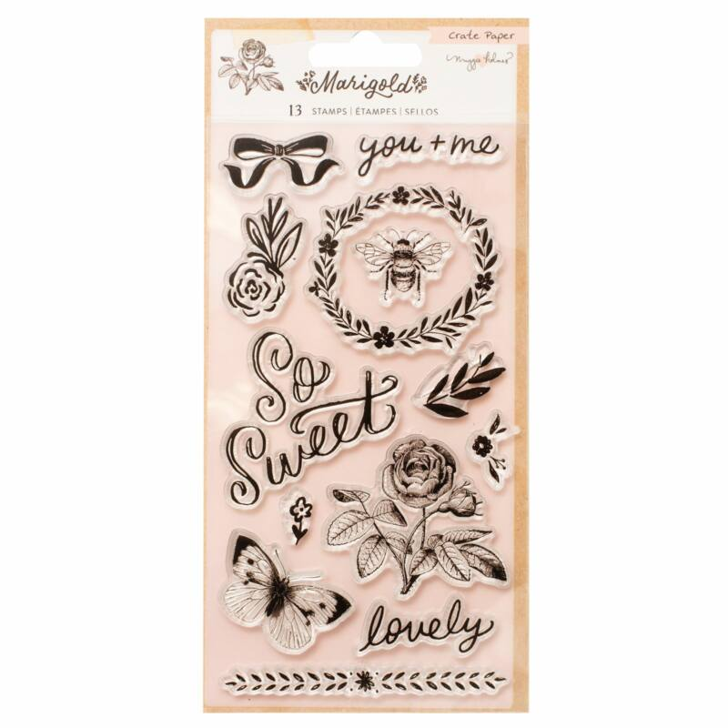 Crate Paper - Maggie Holmes - Marigold Acrylic Stamps (13 Piece)
