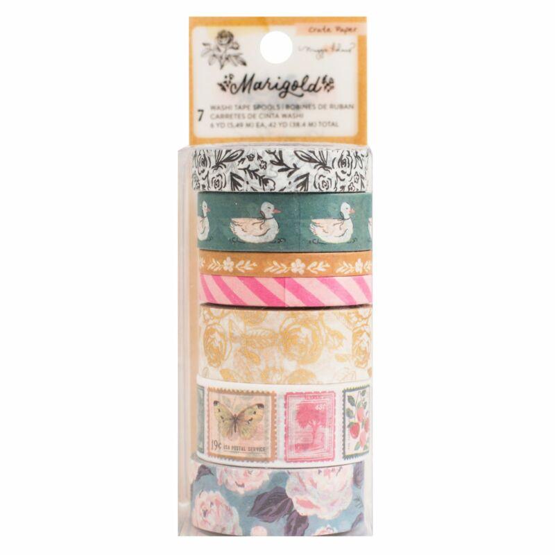 Crate Paper - Maggie Holmes - Marigold washi tapasz (7 db)