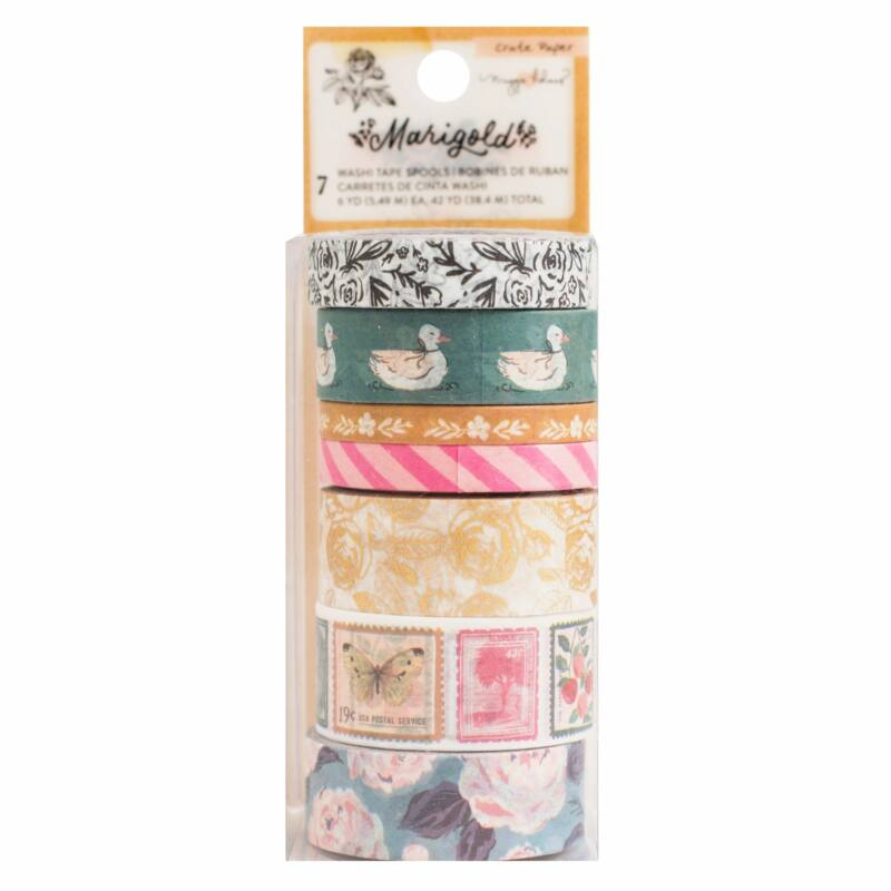 Crate Paper - Maggie Holmes - Marigold Washi Tape (7 Piece)