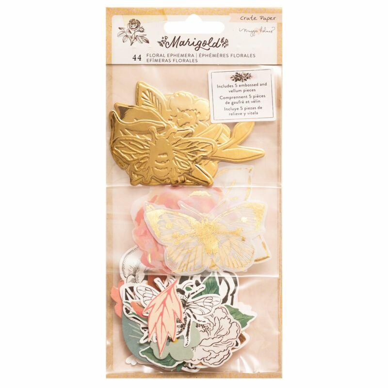 Crate Paper - Maggie Holmes - Marigold Floral Ephemera (44 Piece)