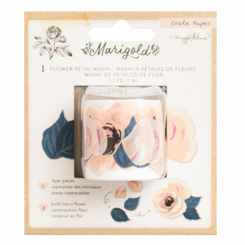 Crate Paper - Maggie Holmes - Marigold Flower Petal Washi Tape