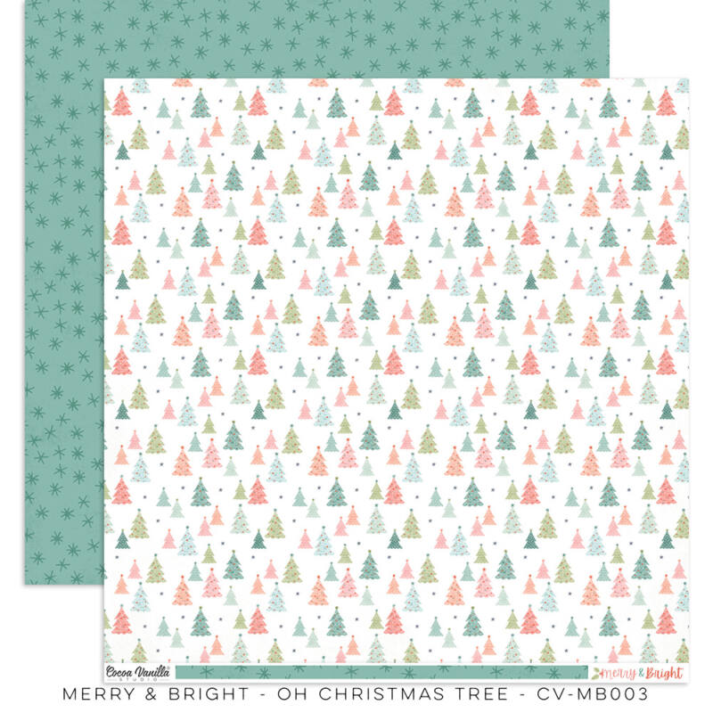 Cocoa Vanilla Studio - Merry & Bright 12x12 Paper - Oh Christmas Tree