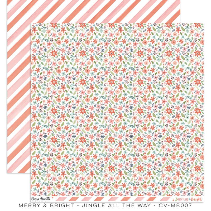 Cocoa Vanilla Studio - Merry & Bright 12x12 Paper - Jingle All The Way