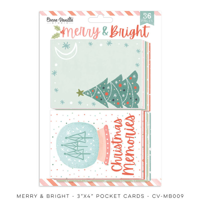Cocoa Vanilla Studio - Merry & Bright Pocket Cards