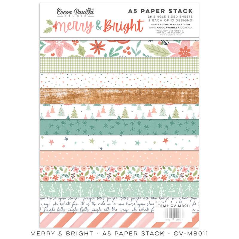 Cocoa Vanilla Studio - Merry & Bright 6x8 Paper Stack