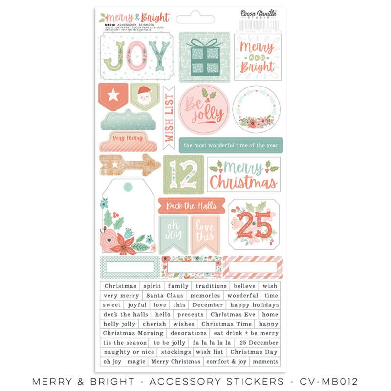 Cocoa Vanilla Studio - Merry & Bright Accessory Stickers