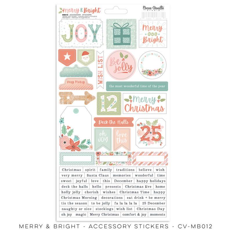 Cocoa Vanilla Studio - Merry & Bright Accessory Stickers