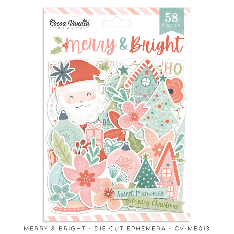 Cocoa Vanilla Studio - Merry & Bright Die Cut Ephemera