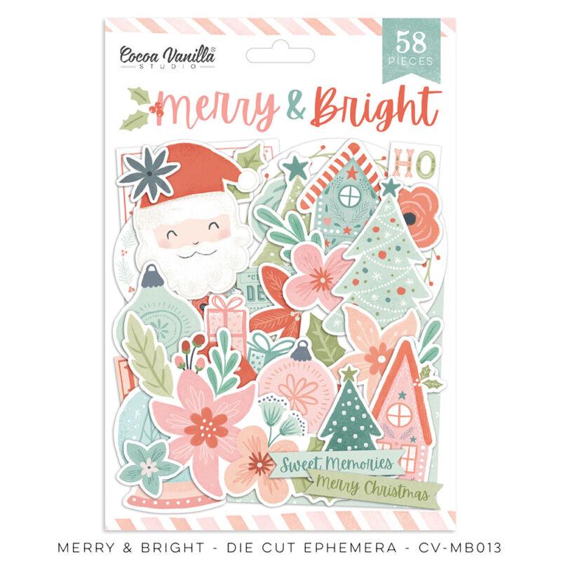 Cocoa Vanilla Studio - Merry & Bright Die Cut Ephemera