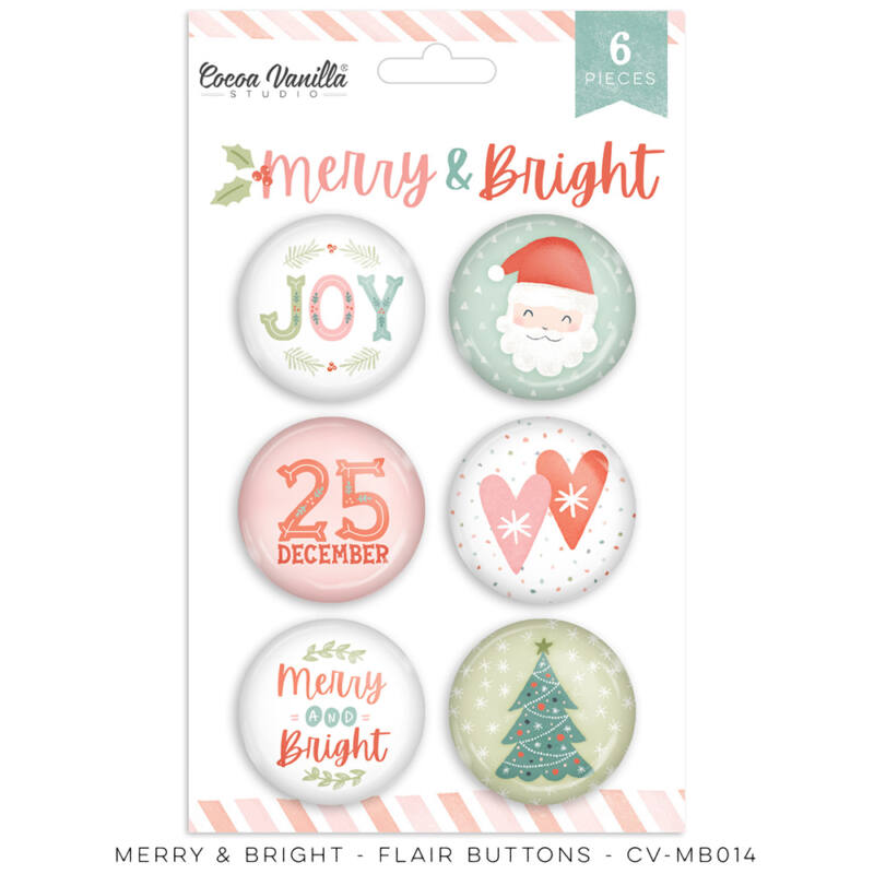 Cocoa Vanilla Studio - Merry & Bright Flair Buttons