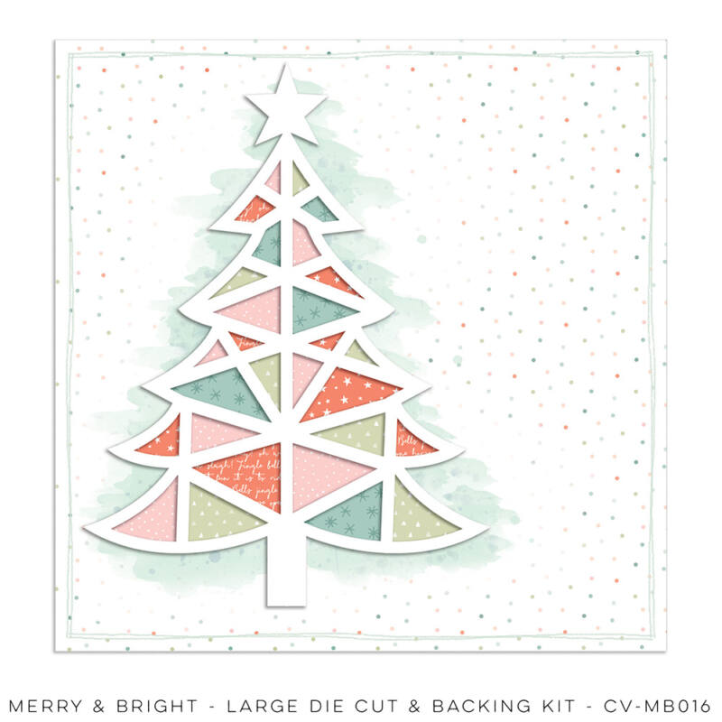 Cocoa Vanilla Studio - Merry & Bright Large Die Cut & Backing Kit
