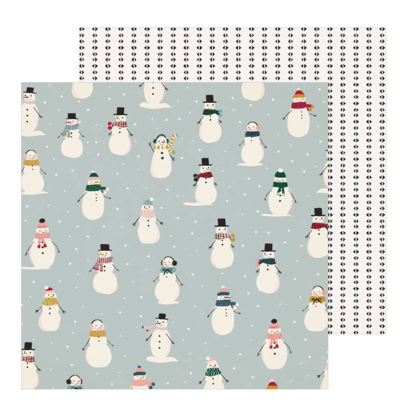 Crate Paper - Snowflake 12x12 Patterned Paper - Frosted