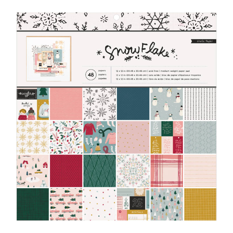 Crate Paper - Snowflake 12x12 Paper Pad (48 sheets)