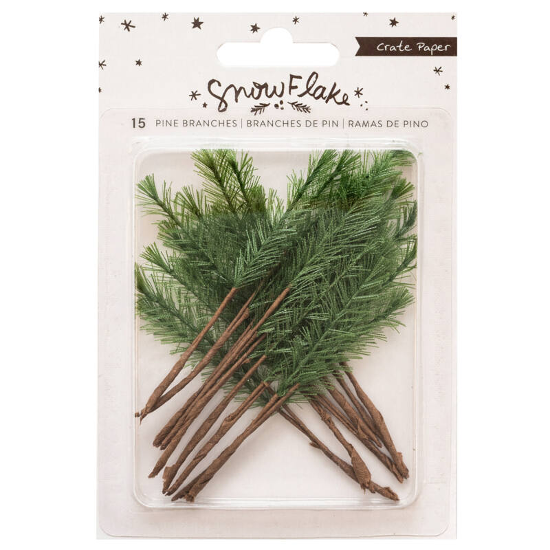 Crate Paper - Snowflake Pine Branches (15 Piece)