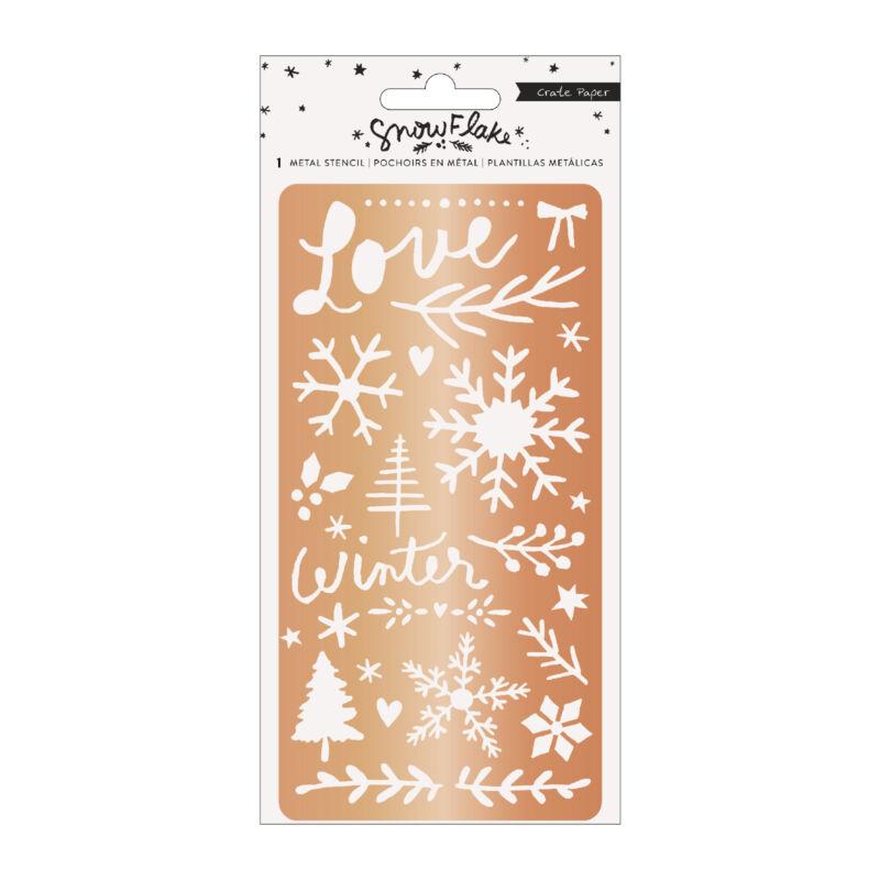 Crate Paper - Snowflake Copper Metal Stencil