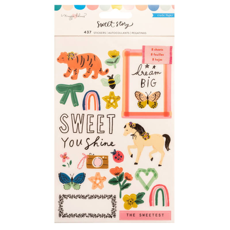 Crate Paper - Maggie Holmes - Sweet Story Sticker Book (437 Piece)