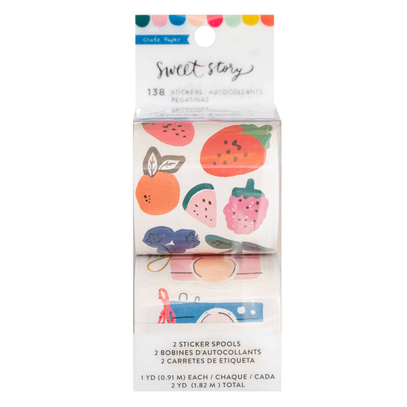 Crate Paper - Maggie Holmes - Sweet Story Rolls Sticker (182 Piece)