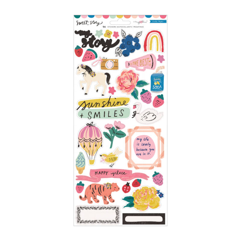 Crate Paper - Maggie Holmes - Sweet Story 6x12 Sticker Sheet (94 Piece)