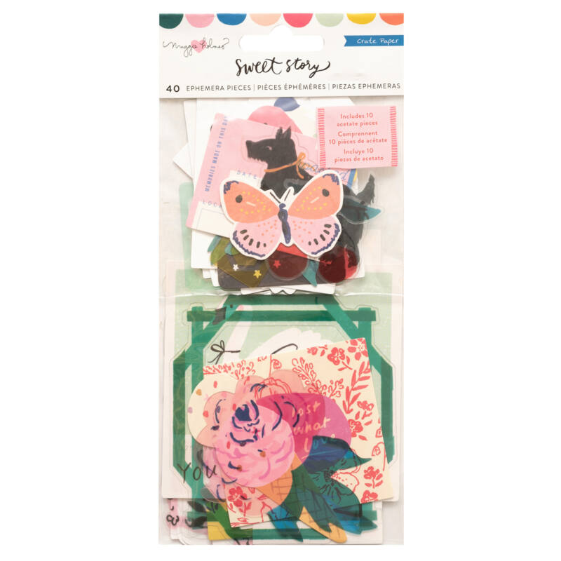 Crate Paper - Maggie Holmes - Sweet Story Ephemera Pack (40 Piece)
