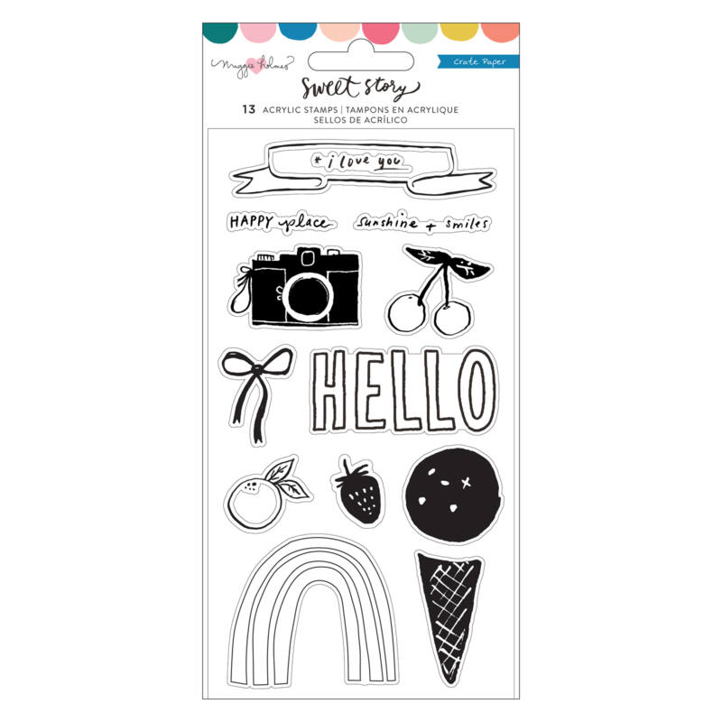 Crate Paper - Maggie Holmes - Sweet Story Clear Stamp Set (13 Piece)