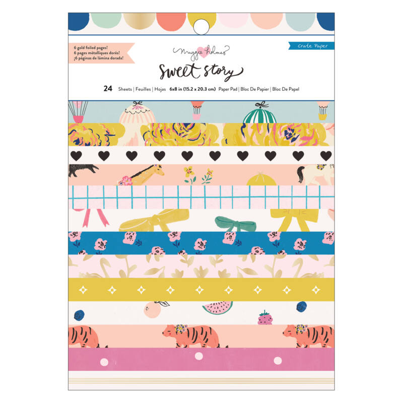 Crate Paper - Maggie Holmes - Sweet Story 6x8 Paper Pad (24 Sheets)
