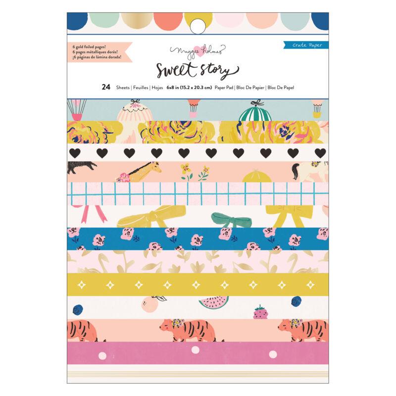 Crate Paper - Maggie Holmes - Sweet Story 6x8 papírtömb (24 lap)