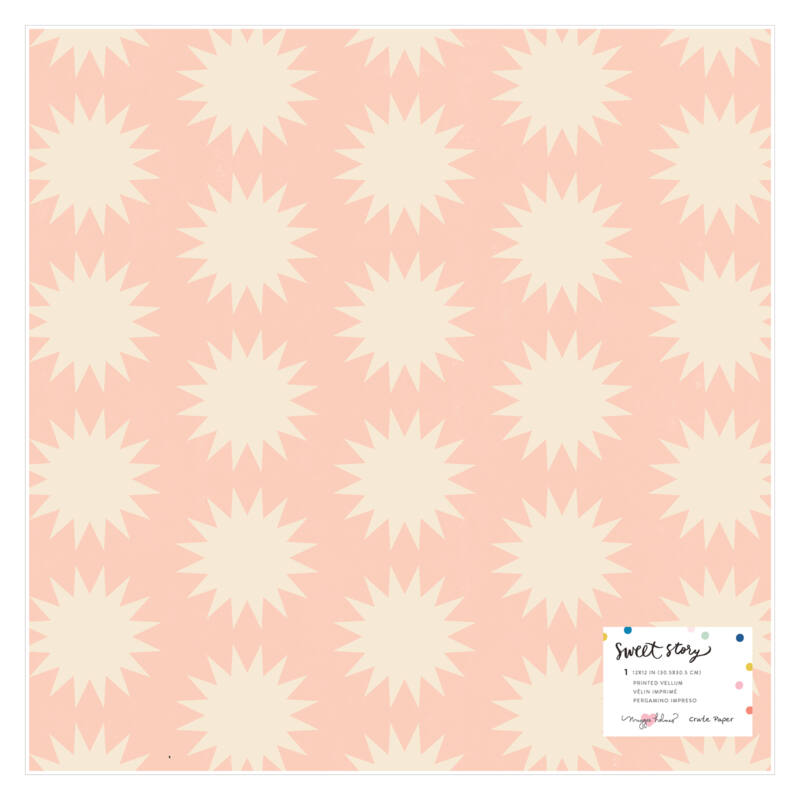 Crate Paper - Maggie Holmes - Sweet Story 12x12 Specialty Vellum Paper - Stardust
