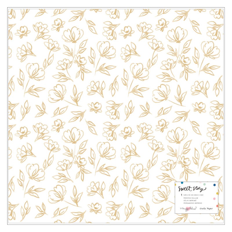 Crate Paper - Maggie Holmes - Sweet Story 12x12 Specialty Vellum Paper - Goldie