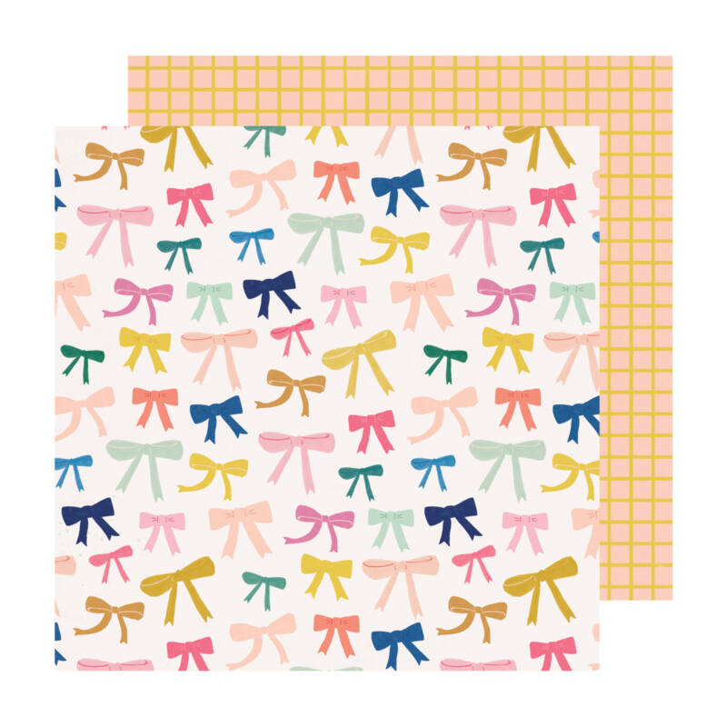Crate Paper - Maggie Holmes - Sweet Story 12x12 Paper - Ponytail