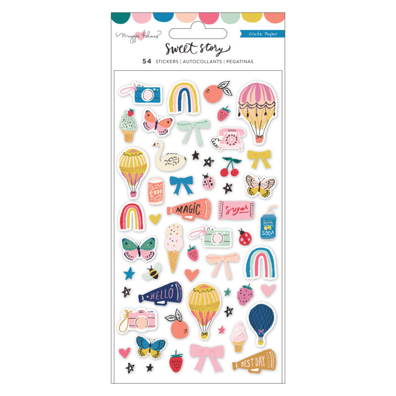 Crate Paper - Maggie Holmes - Sweet Story Puffy Stickers (50 Piece)