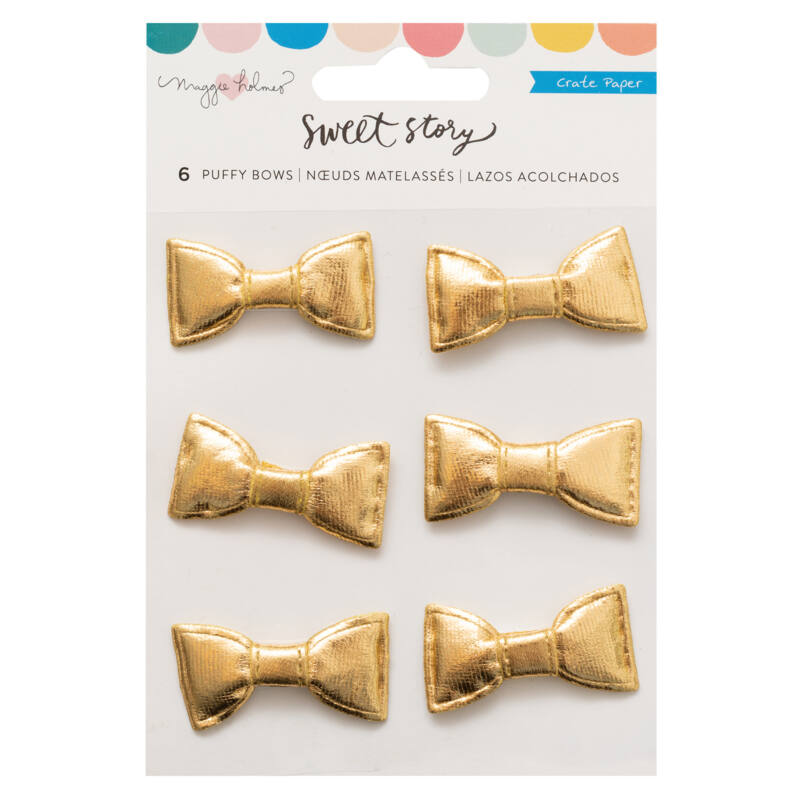 Crate Paper - Maggie Holmes - Sweet Story Puffy Bows (6 Piece)