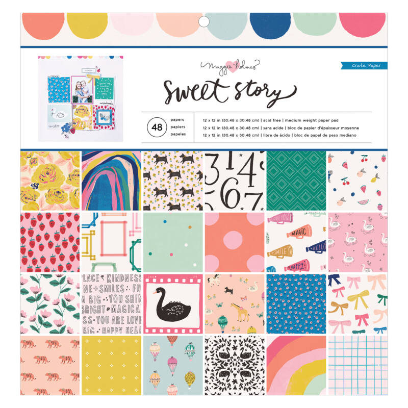 Crate Paper - Maggie Holmes - Sweet Story 12x12 Paper Pad (48 Sheets)