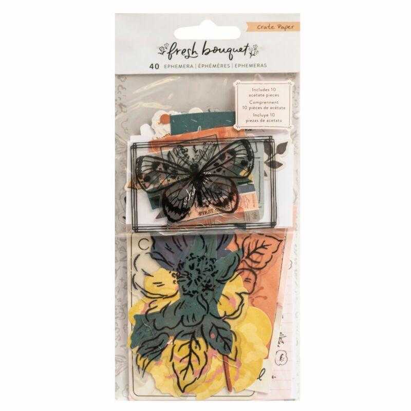 Crate Paper - Fresh Bouquet Ephemera (40 Piece)