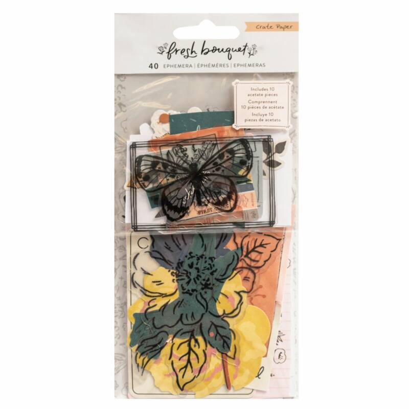 Crate Paper - Fresh Bouquet Ephemera (40 Piece)