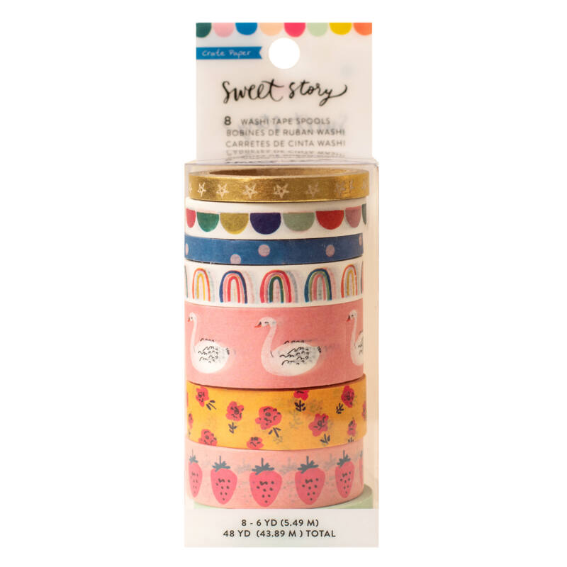 Crate Paper - Maggie Holmes - Sweet Story Washi Tape (8 Piece)