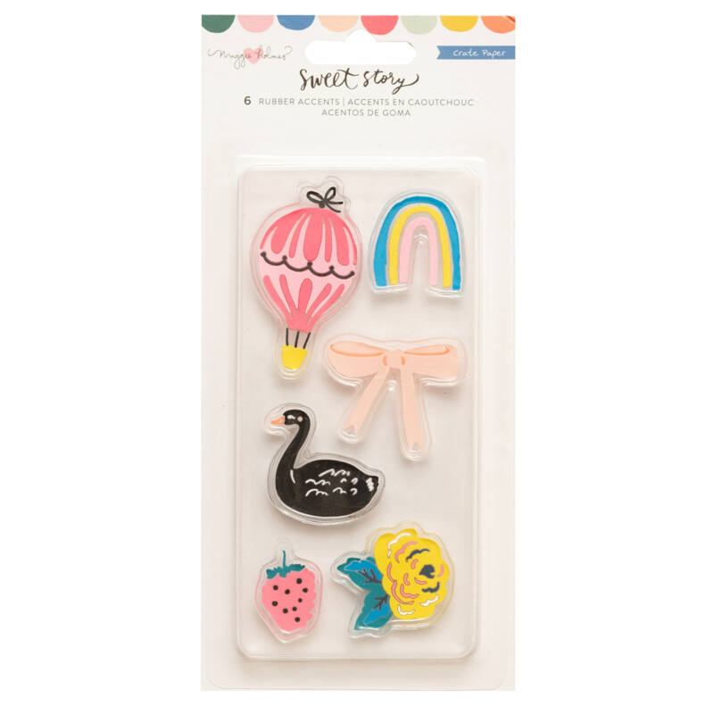 Crate Paper - Maggie Holmes - Sweet Story Rubber Accents (8 Piece)