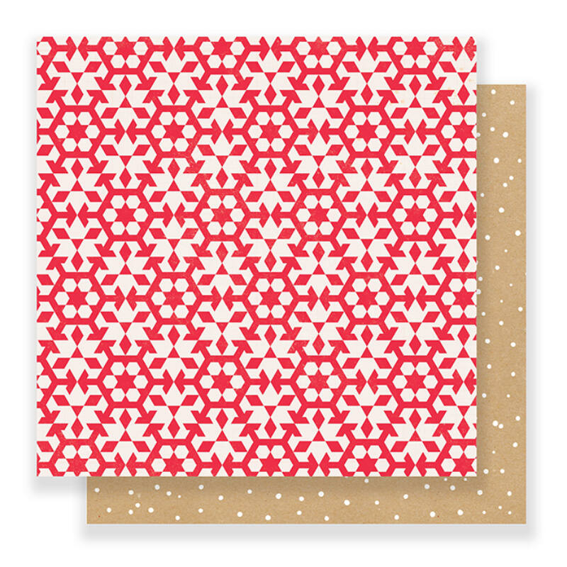 Crate Paper - Falala 12x12 Paper - Snowflakes