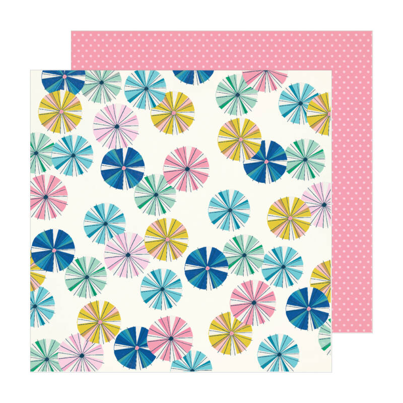 Crate Paper - Maggie Holmes - Sunny Days 12x12 Patterned Paper -  Parasol
