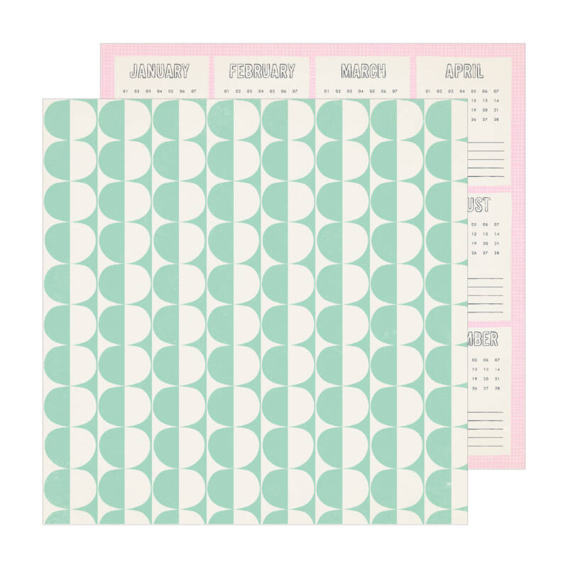 Crate Paper - Maggie Holmes - Sunny Days 12x12 Patterned Paper -  Weekend