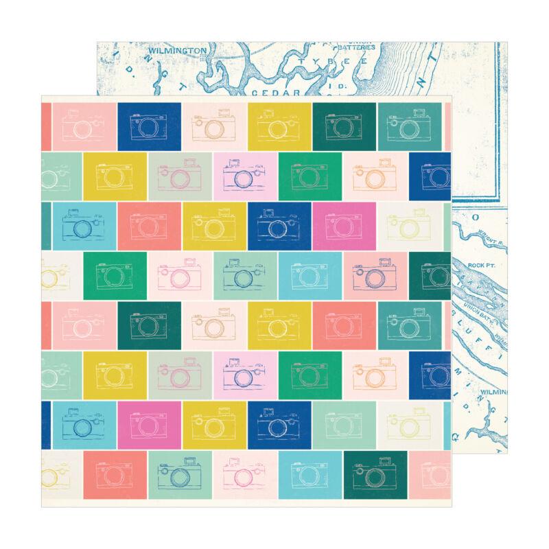 Crate Paper - Maggie Holmes - Sunny Days 12x12 scrapbook papír -  Snapshot